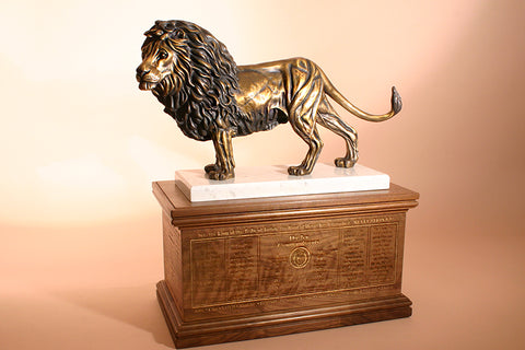 """Lion of Judah"" 1/6 Life-size Bronze Sculpture With Base"