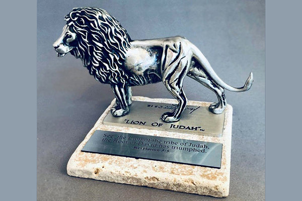 Lion of Judah Pewter 1/24 Life-size Sculpture Award (Various Bases)