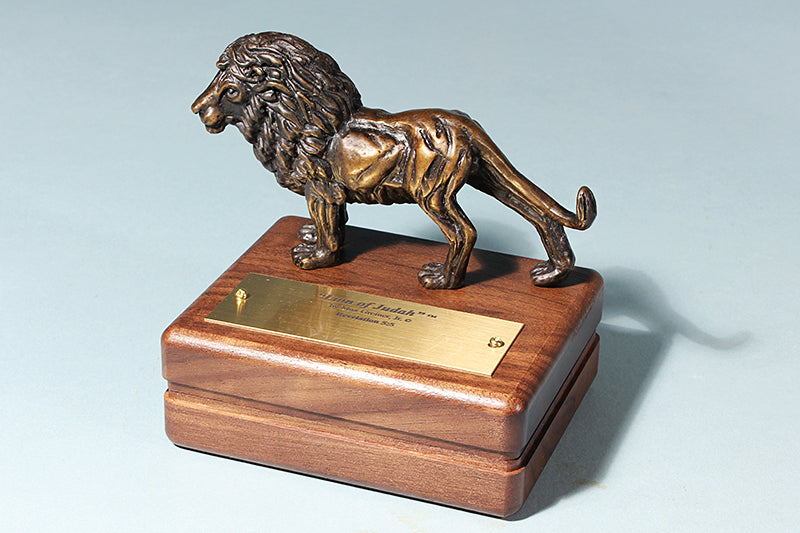 Lion of Judah 1/24 Life-size Bronze Sculpture Keepsake Box
