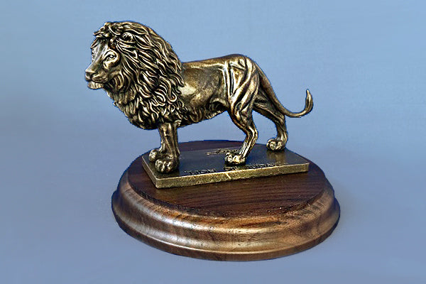 Lion of Judah 1/24 Resin on 5 Inch Round Base