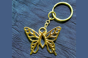 Christian Butterfly Key Chain