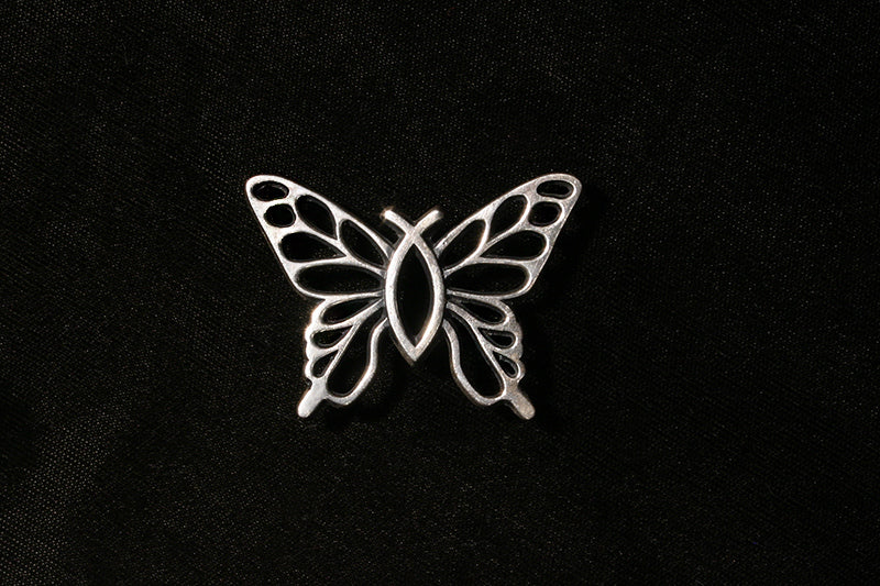 Christian Butterfly Sterling Silver Charm in 3 Sizes