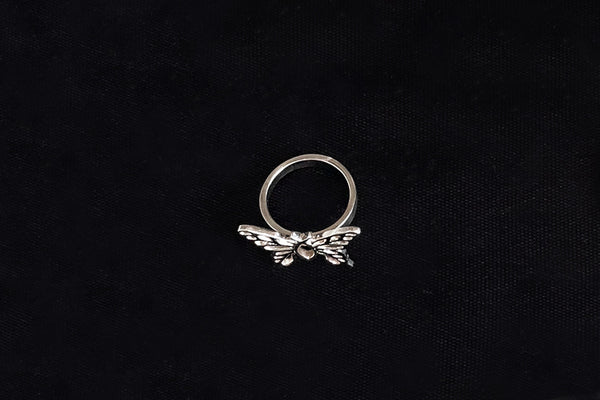 Z Christian Butterfly Ring in Gold or Silver