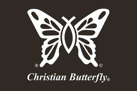 """Christian Butterfly"" Window Decal"