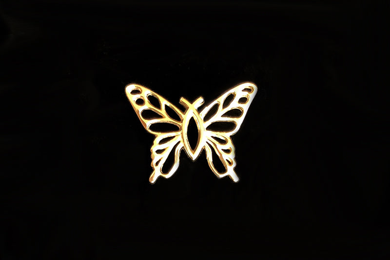 """Christian Butterfly"" 14k Gold Charm in 3 Sizes"