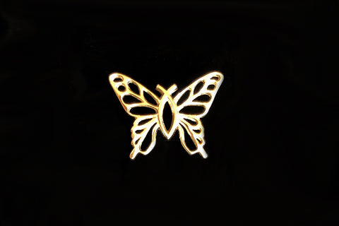 Christian Butterfly 14k Gold Charm in 3 Sizes