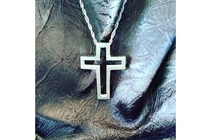 "The Empty Cross Charm - 1-1/4"" Sterling Silver"