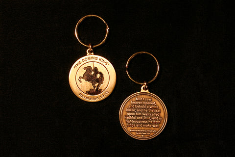 The Coming King Bronze Key Ring