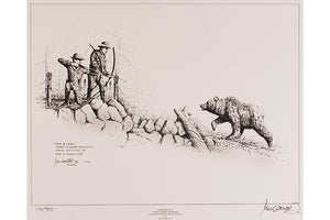 "Wildlife: Drawing Print ""Pope & Young"""