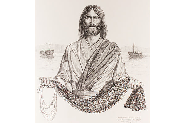 """Fisher of Men"" Drawing Prints"