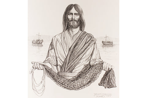 Fisher of Men Drawing Print in Various Sizes