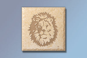 "Z Lion of Judah 4"" Etched Tile"