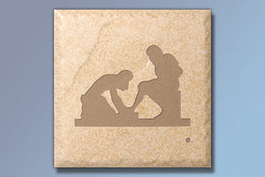 "Z Divine Servant 4"" Etched Tile"