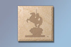 """The Coming King"" 4"" Etched Tile"