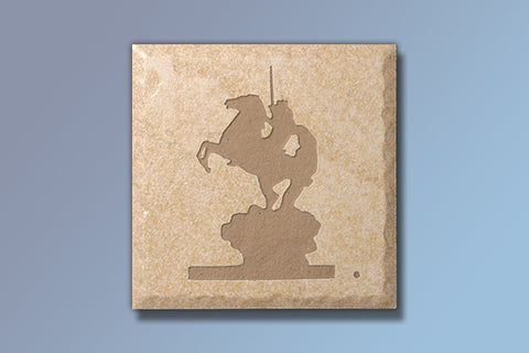 "The Coming King 4"" Etched Tile"