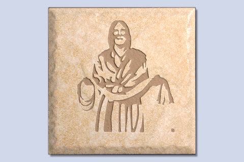 "Fisher of Men 4"" Etched Tile"