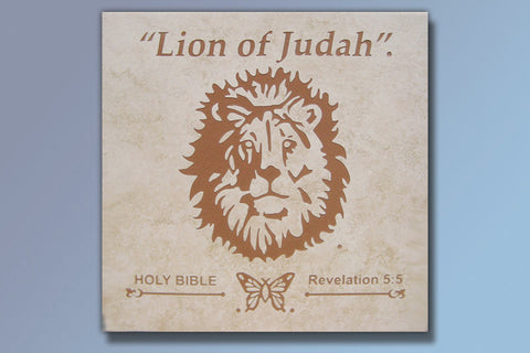 "Lion of Judah 16"" Etched Tile"