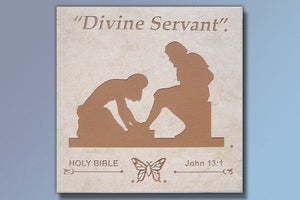 "Divine Servant 16"" Etched Tile"