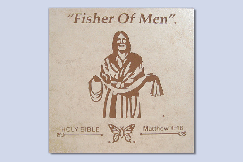 "Fisher of Men 16"" Etched Tile"