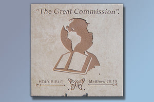 """The Great Commission"" 16"" Etched Tile"