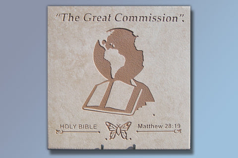 "The Great Commission 16"" Etched Tile"
