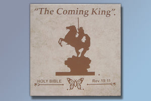 "The Coming King 16"" Etched Tile"