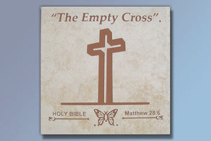 "The Empty Cross 16"" Etched Tile"