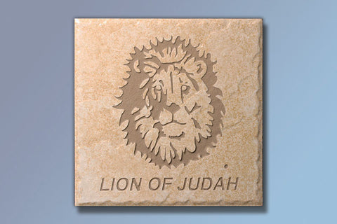 "Lion of Judah 6"" Etched Tile"