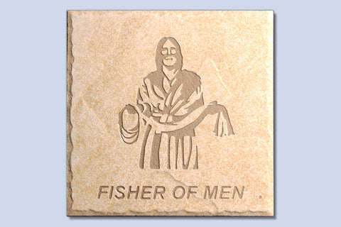 "Fisher of Men 6"" Etched Tile"