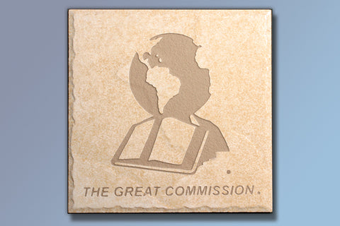 "The Great Commission 6"" Etched Tile"