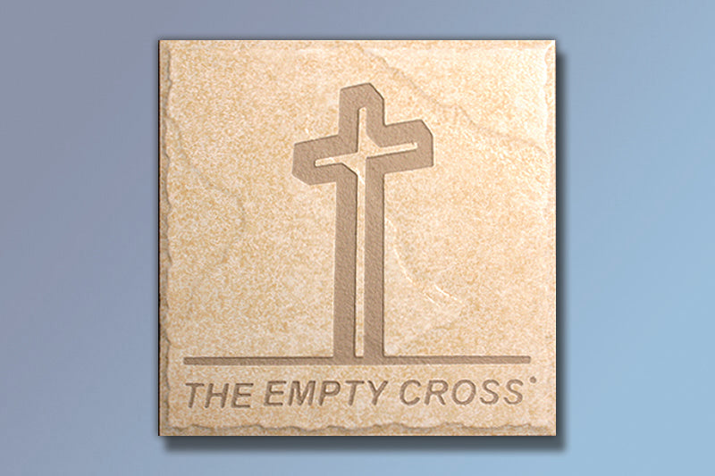 "Z The Empty Cross 6"" Etched Tile"