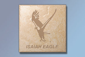 "Isaiah Eagle 16"" Etched Tile"