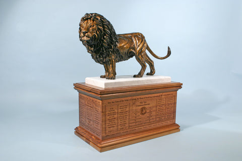 Lion of Judah 1/12 Life-size Bronze with 10 Commandment Base