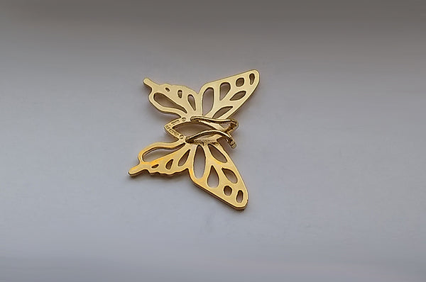 Christian Butterfly 24k Gold Plated Brass Charm in 2 Sizes