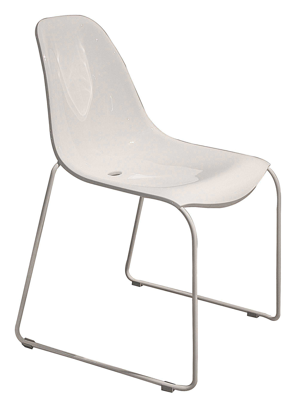 Chair White P/coated - White Shell