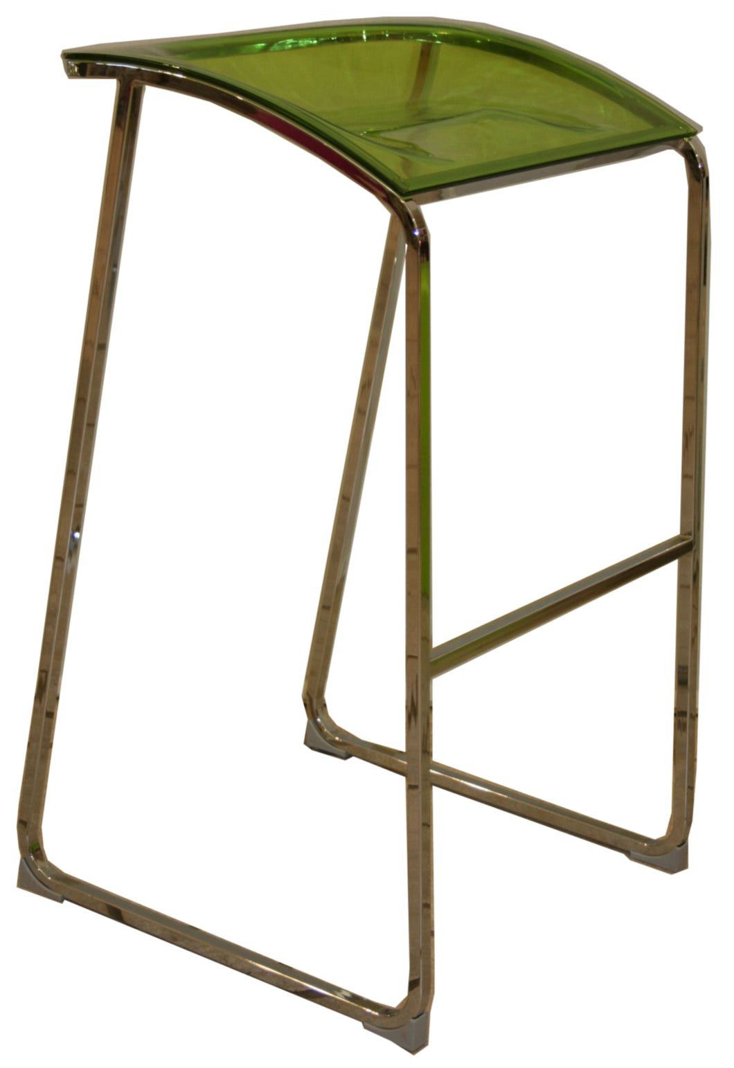 Arod Barstool-gaslift-chrome-transparent Green