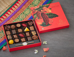 Chocolate- A chocolate macaron filled with rich dark Belgian chocolate ganache