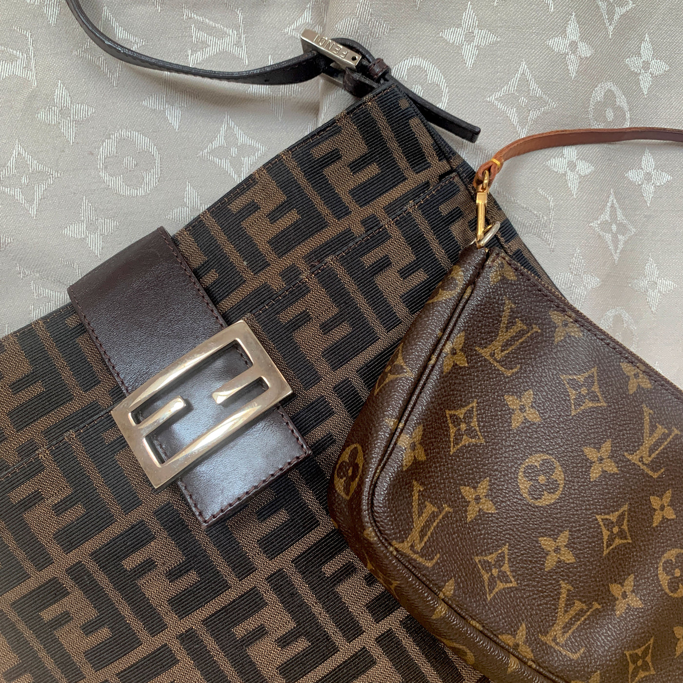 Monogram Louis Vuitton and Fendi