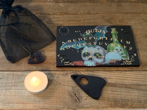 Treat yourself to a travel size Ouija and Planchette