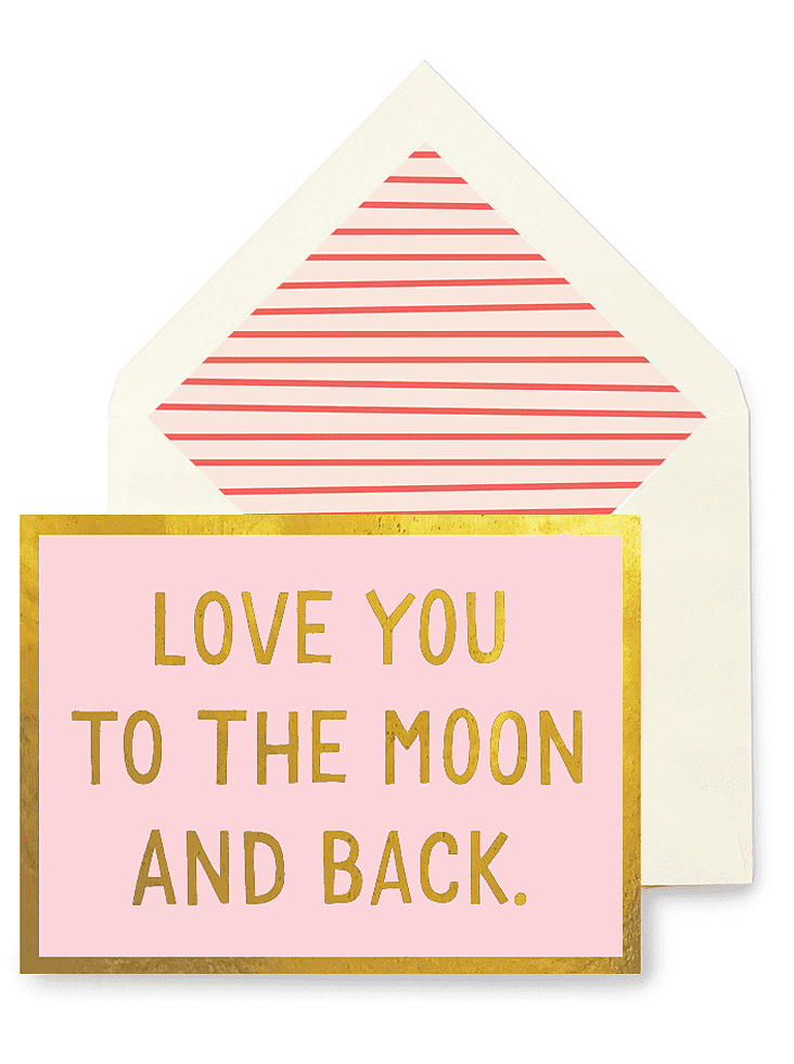 Bensgarden.com | Min. Case Pack // Love You To The Moon And Back Greeting Card, Single Folded Card or Boxed Set of 8 - Bensgarden.com