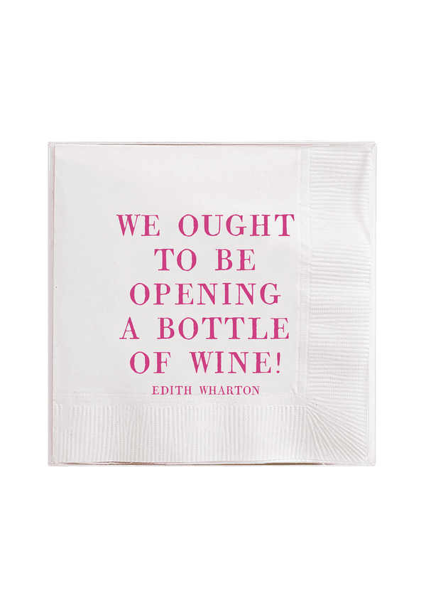 Bensgarden.com | We Ought To Be Opening A Bottle Amusing Cocktail Napkins // Min. Case Pack of 6 - Bensgarden.com
