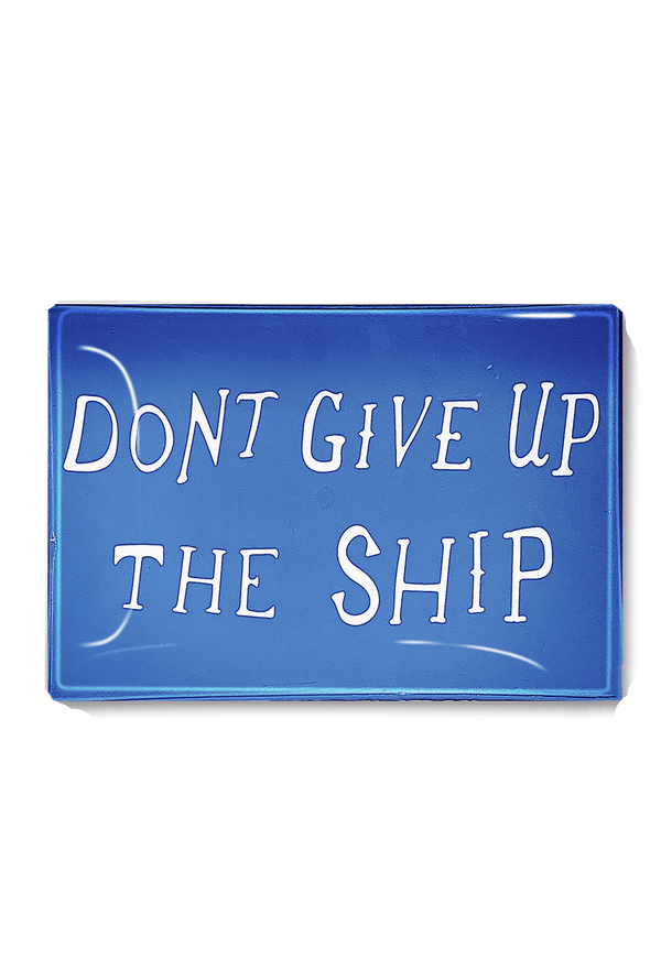 Bensgarden.com | Don't Give Up The Ship Decoupage Glass Tray - Bensgarden.com