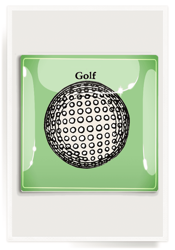 Bensgarden.com | Hole In One Golf Ball Decoupage Glass Tray - Bensgarden.com