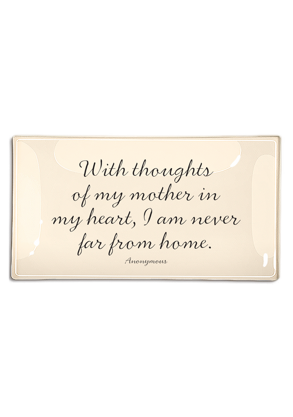 With Thoughts Of My Mother Decoupage Glass Tray