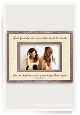 Bensgarden.com | Good Friends Are Connected Heart To Heart Copper & Glass Photo Frame - Bensgarden.com