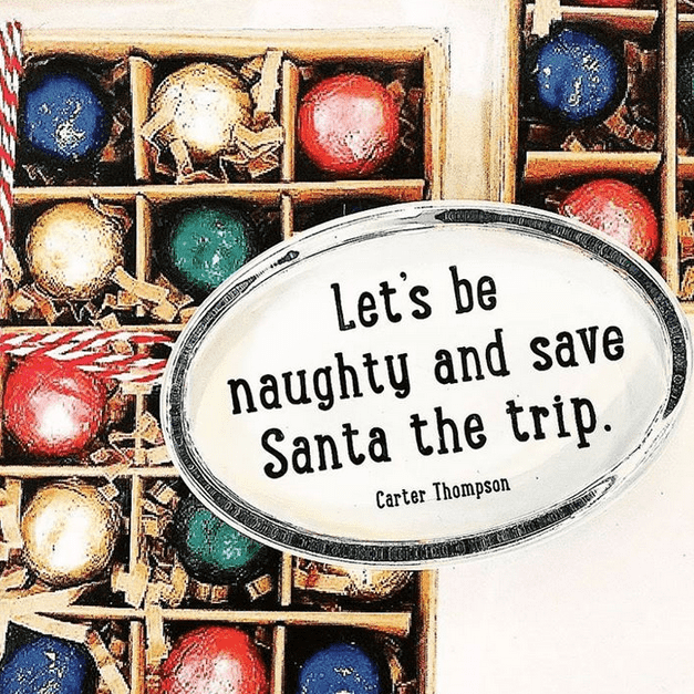 Bensgarden.com | Let's Be Naughty And Save Santa The Trip Crystal Oval Paperweight - Bensgarden.com