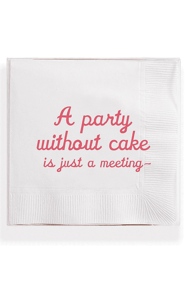 Bensgarden.com | A Party Without Cake Amusing Cocktail Napkins // Min. Case Pack of 6 - Bensgarden.com