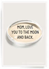 Bensgarden.com | Mom, Love You To The Moon Crystal Oval Paperweight - Bensgarden.com