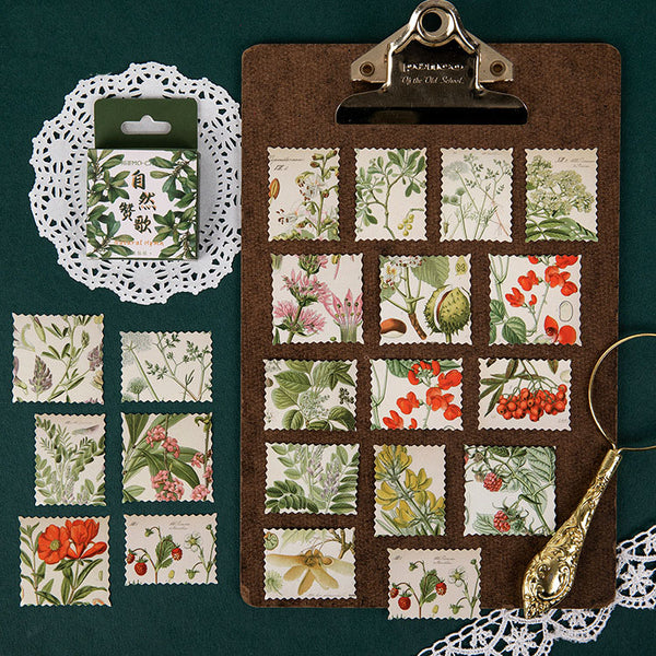 46PCS Natural Plant Flower Series Stickers