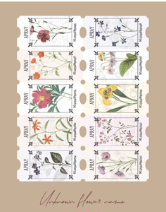 Creative Vintage Plant Tickets Background Paper